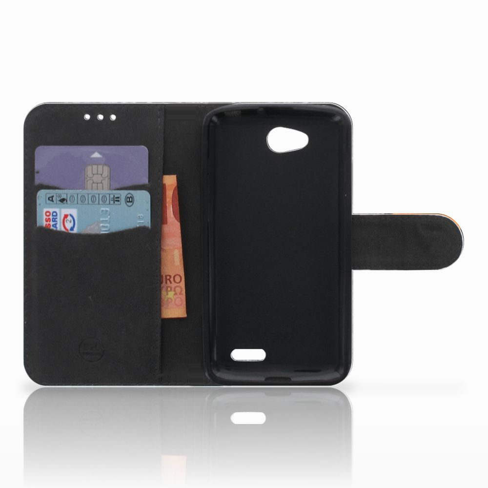 LG L90 Telefoonhoesje met Pasjes Uil