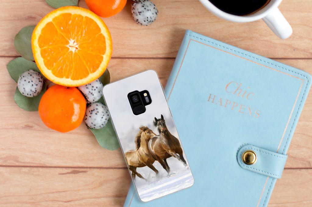 Samsung Galaxy S9 Uniek TPU Hoesje Paarden