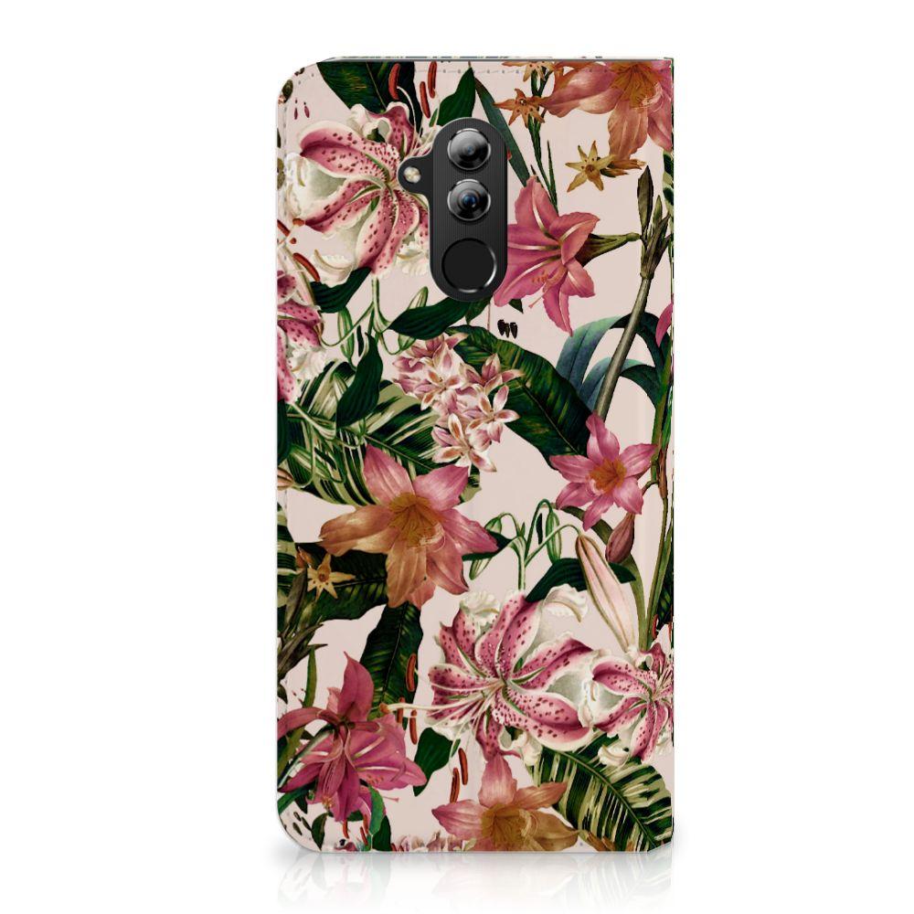 Huawei Mate 20 Lite Uniek Standcase Hoesje Flowers