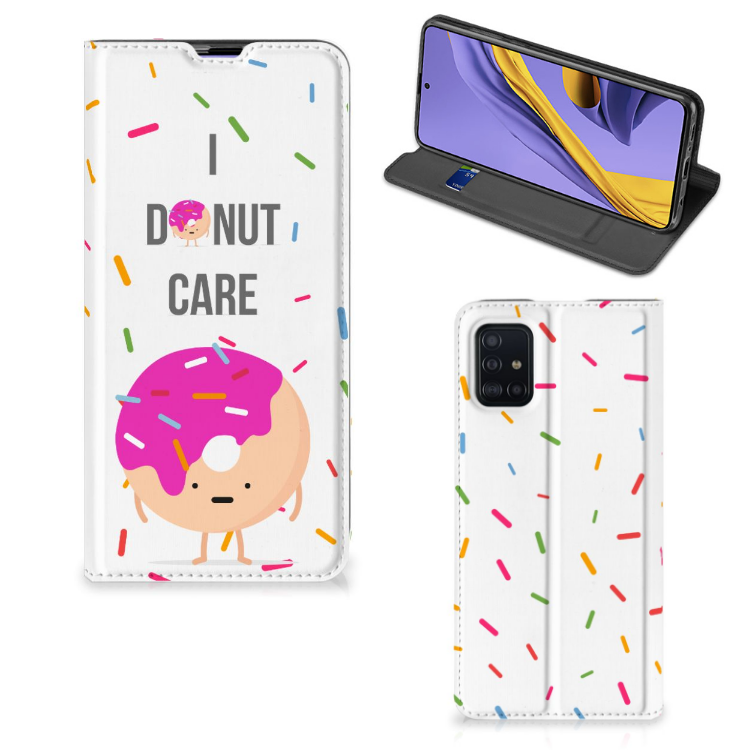 Samsung Galaxy A51 Flip Style Cover Donut Roze