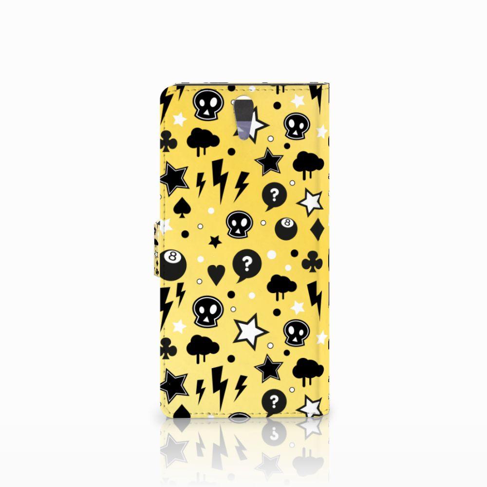 Telefoonhoesje met Naam Sony Xperia C5 Ultra Punk Geel