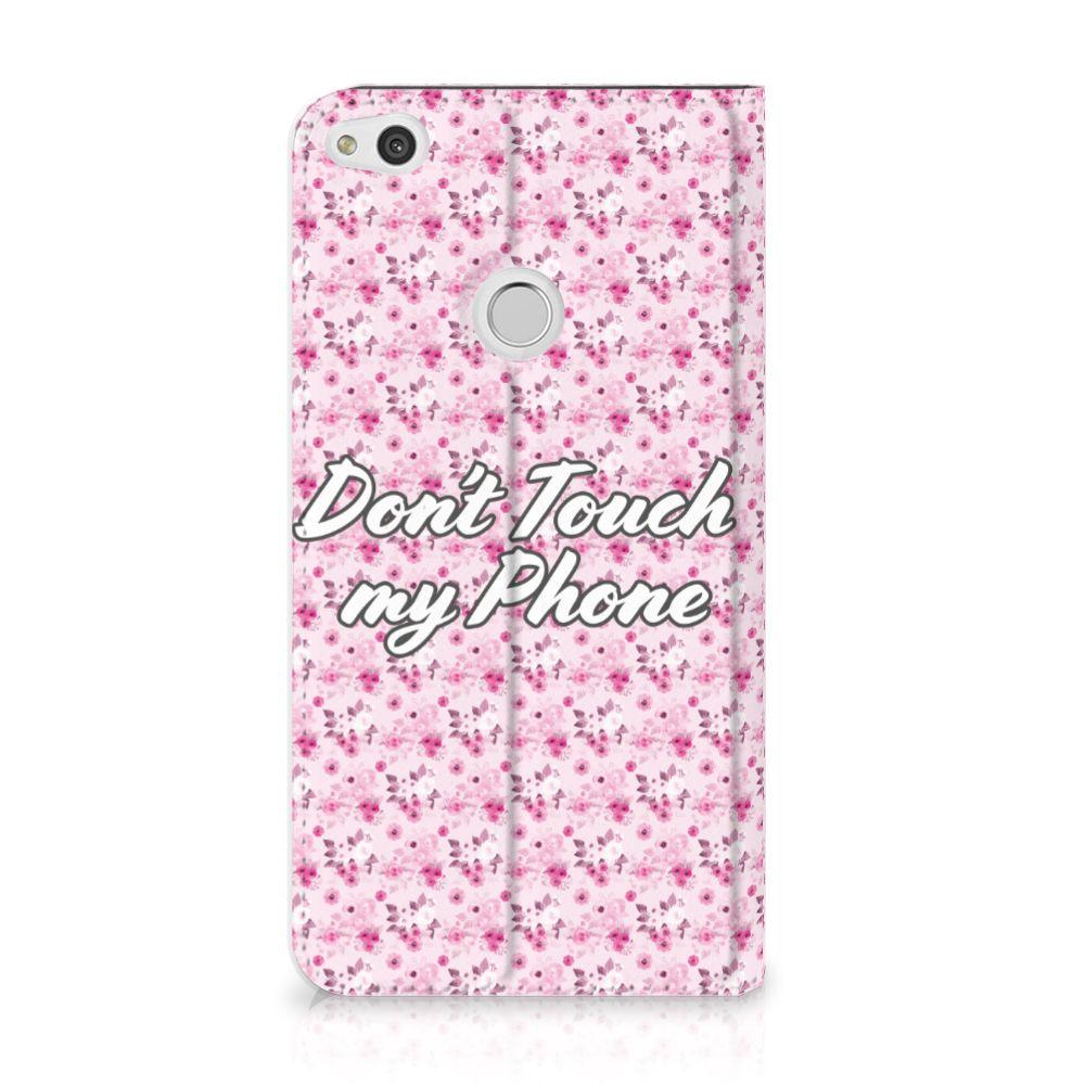Huawei P8 Lite 2017 Uniek Standcase Hoesje Flowers Pink DTMP