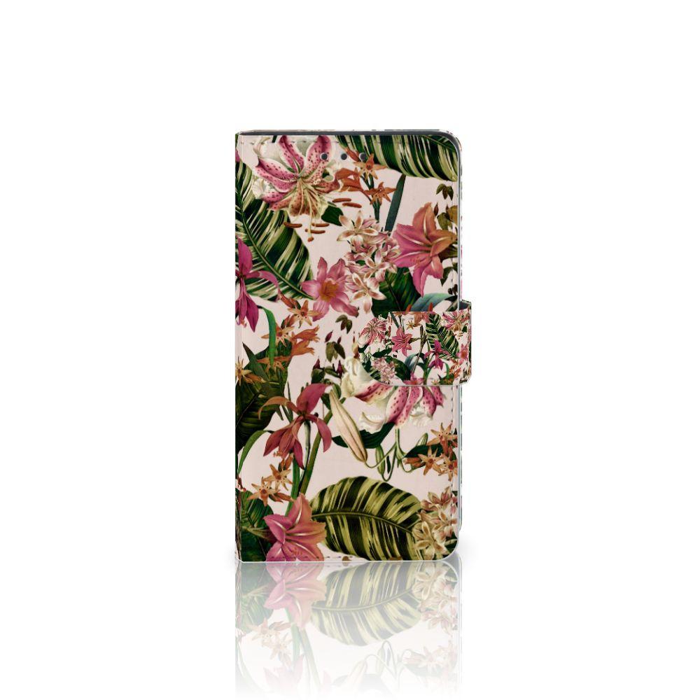 Sony Xperia Z3 Uniek Boekhoesje Flowers
