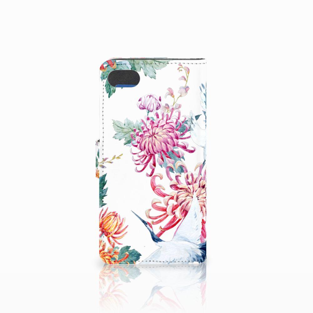 Huawei Y5 2018 Telefoonhoesje met Pasjes Bird Flowers