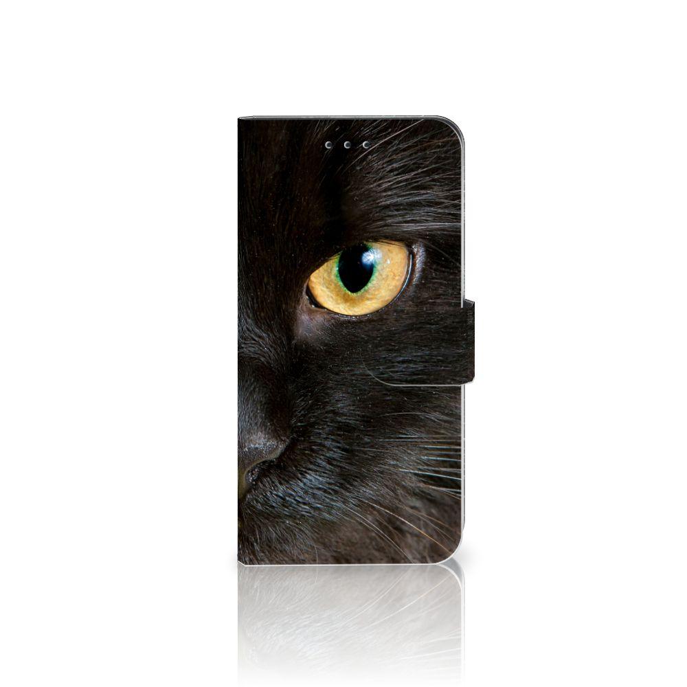 Nokia 7.1 Uniek Boekhoesje Zwarte Kat