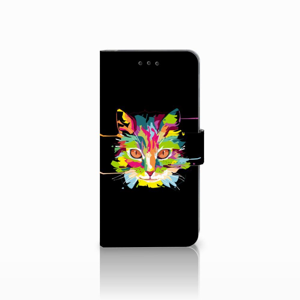 Samsung Galaxy A6 Plus 2018 Uniek Boekhoesje Cat Color