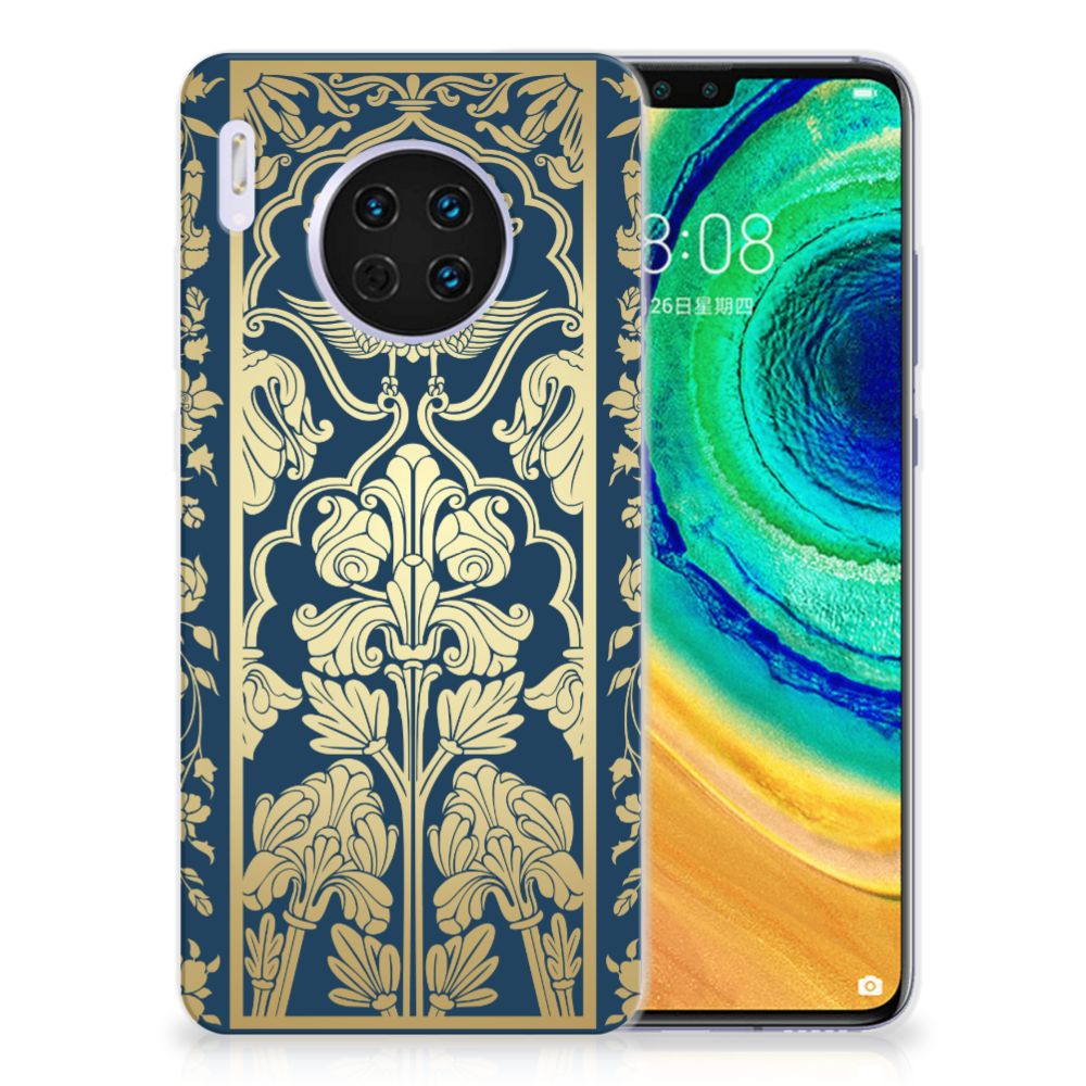Huawei Mate 30 TPU Case Golden Flowers