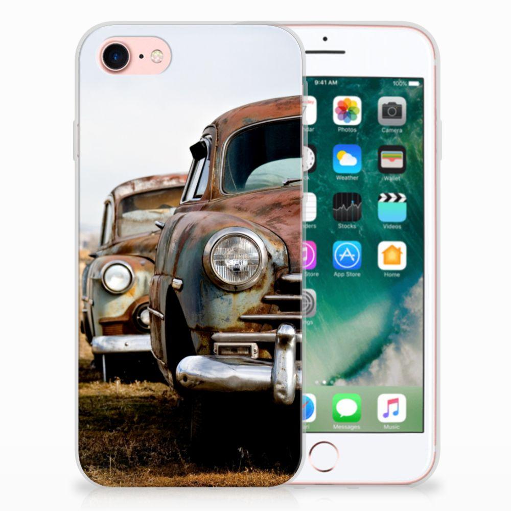 Apple iPhone 7   8 Uniek TPU Hoesje Vintage Auto