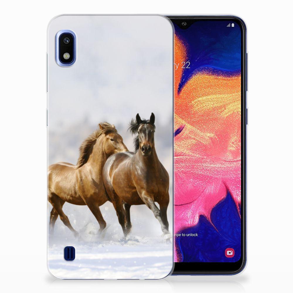 Samsung Galaxy A10 Leuk Hoesje Paarden