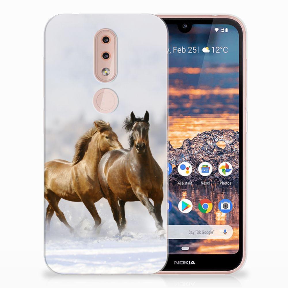 Nokia 4.2 TPU Hoesje Paarden