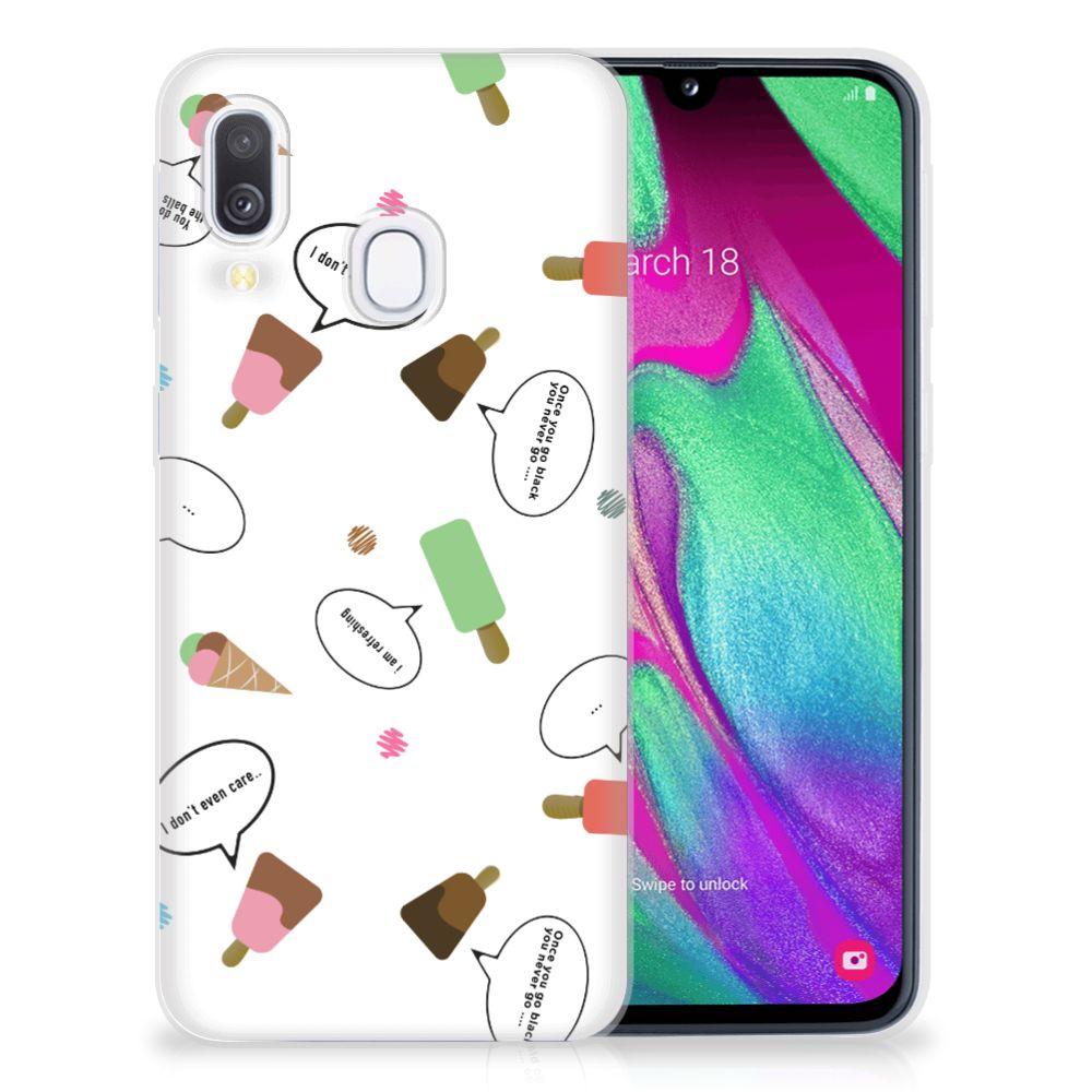 Samsung Galaxy A40 Siliconen Case IJsjes