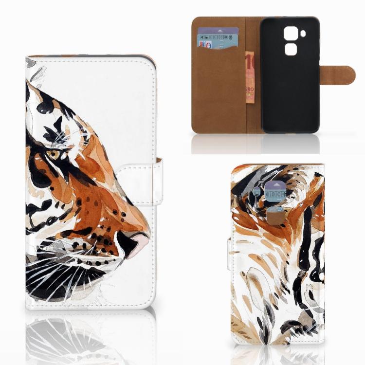 Hoesje Huawei Nova Plus Watercolor Tiger