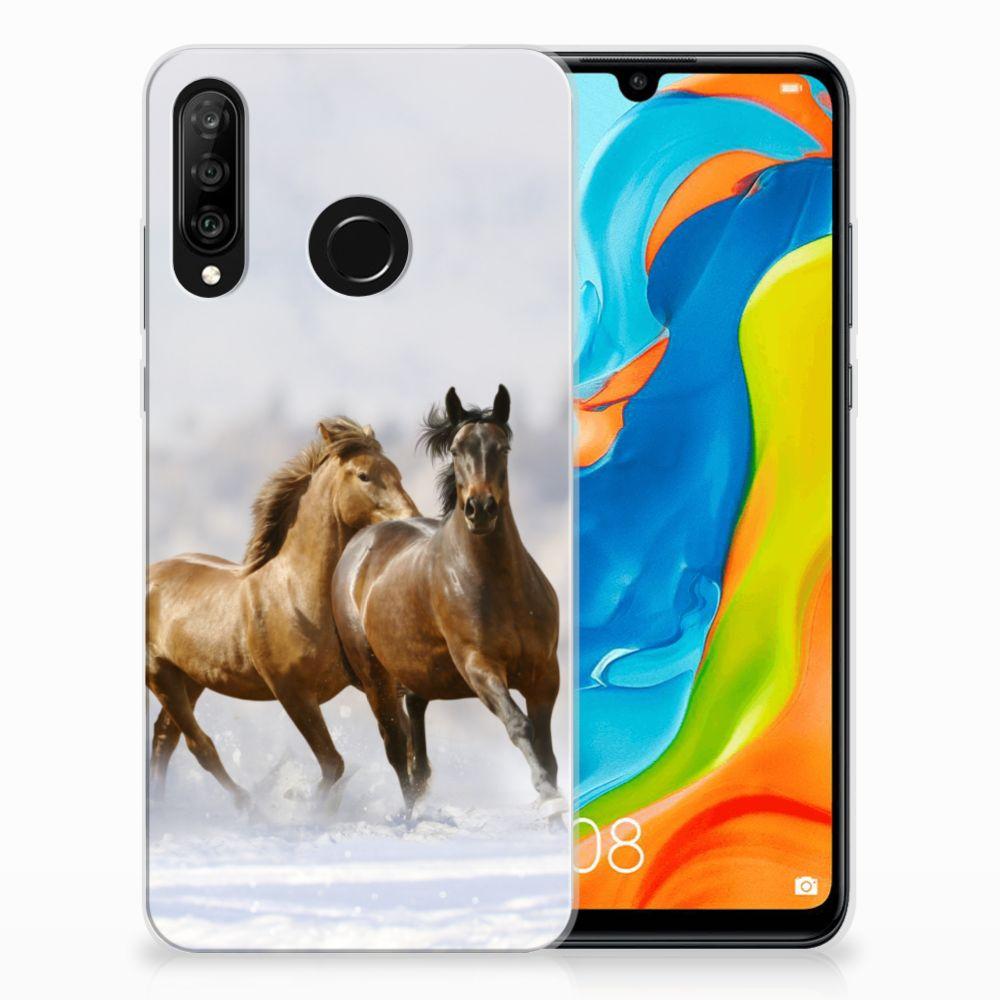 Huawei P30 Lite Leuk Hoesje Paarden