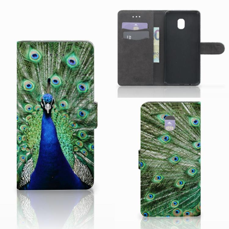 Samsung Galaxy J7 (2018) Telefoonhoesje met Pasjes Pauw