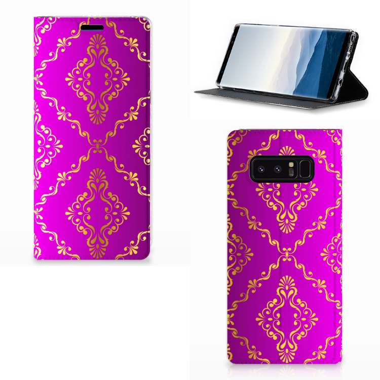 Telefoon Hoesje Samsung Galaxy Note 8 Barok Roze