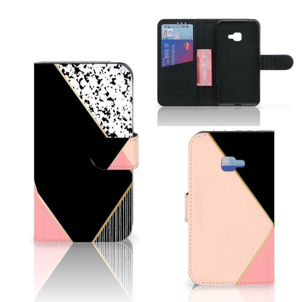 Samsung Galaxy Xcover 4 | Xcover 4s Bookcase Zwart Roze Vormen