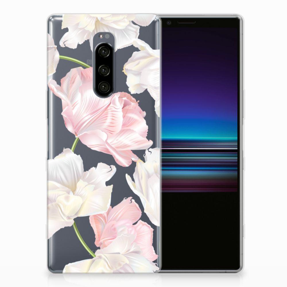 Sony Xperia 1 TPU Hoesje Design Lovely Flowers