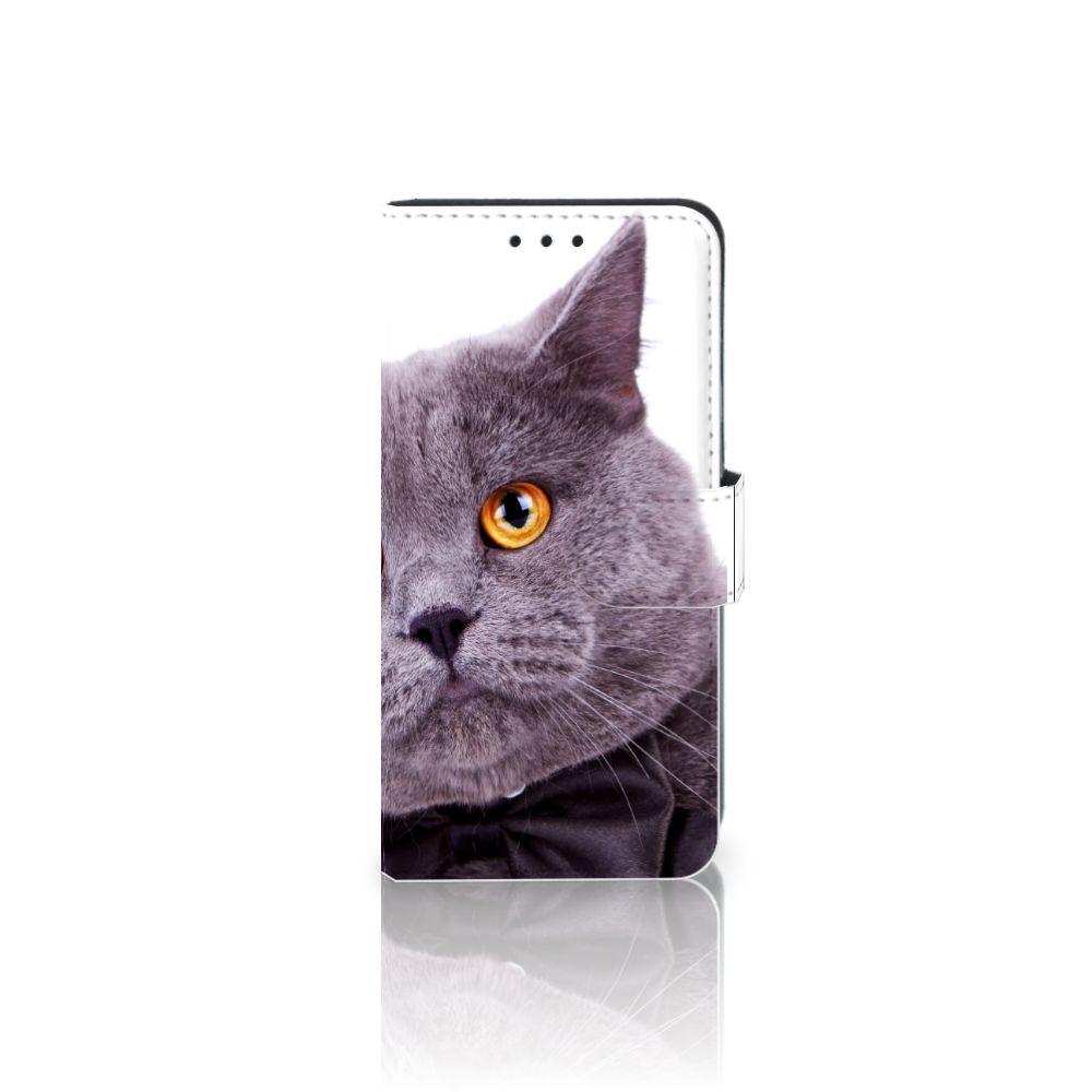 Samsung Galaxy J5 2016 Telefoonhoesje met Pasjes Kat