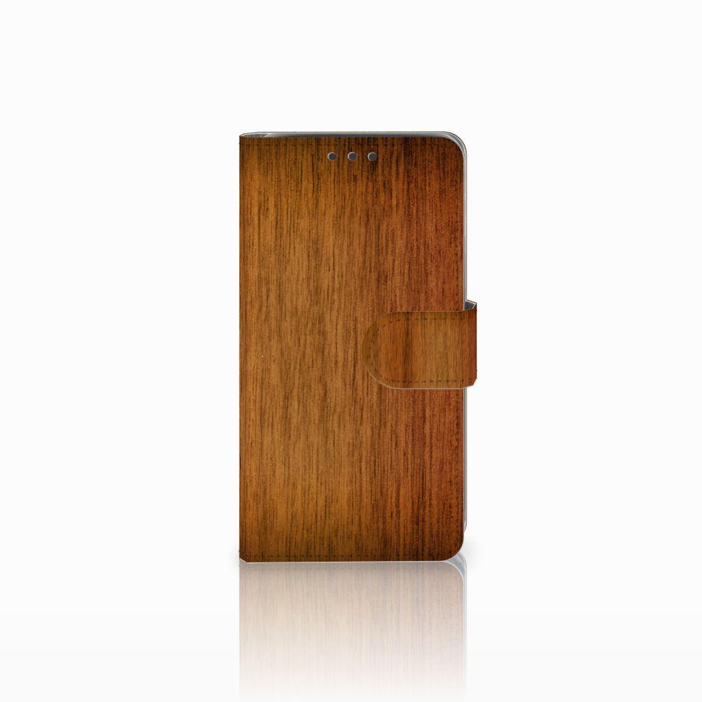 Samsung Galaxy J5 (2015) Uniek Boekhoesje Donker Hout