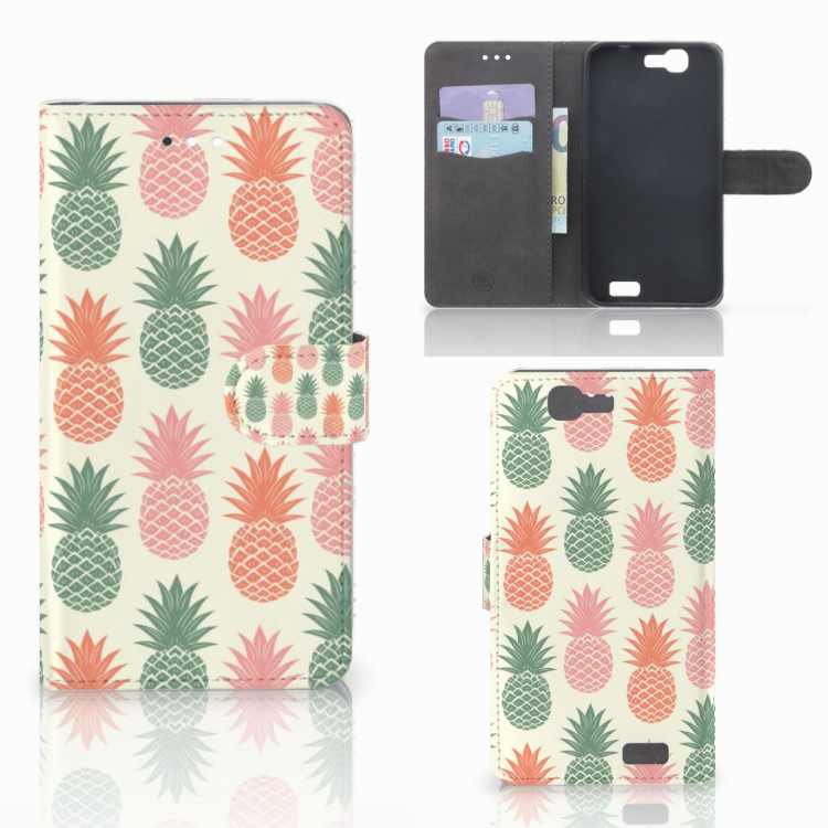 Huawei Ascend G7 Book Cover Ananas