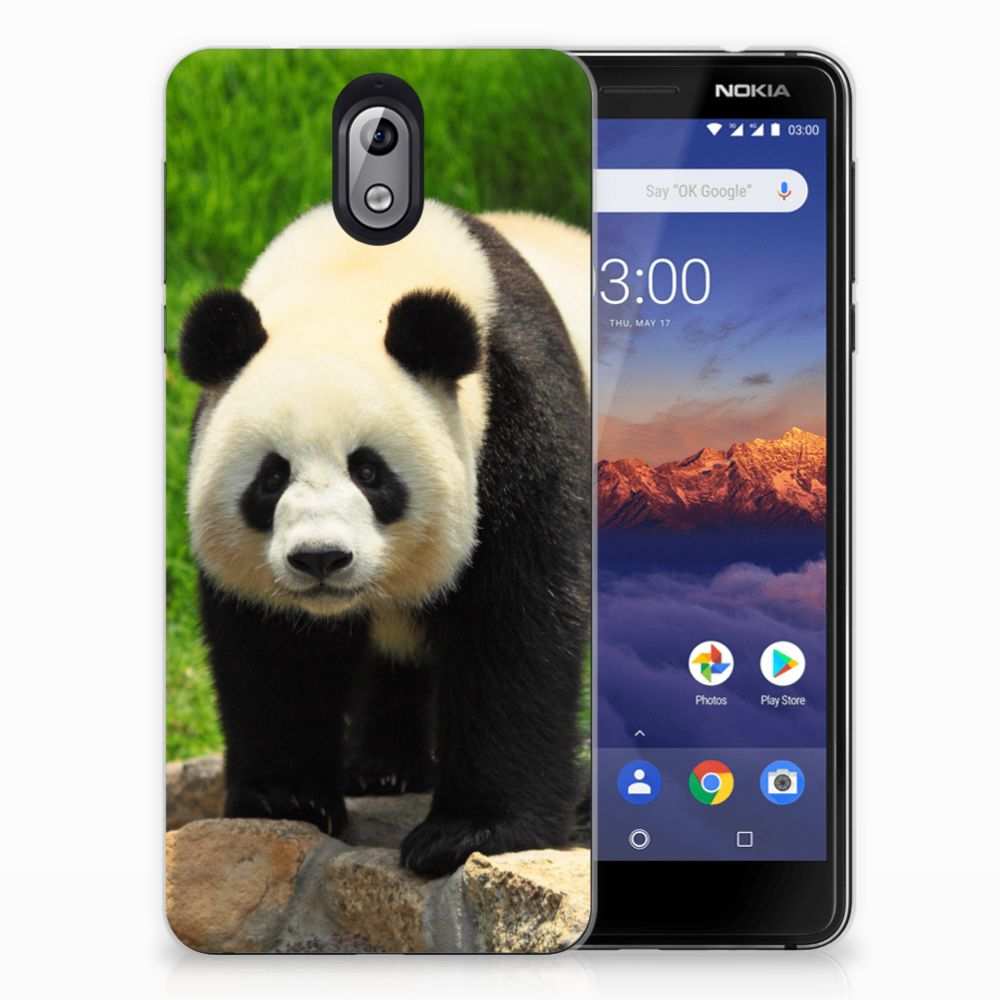 Nokia 3.1 (2018) TPU Hoesje Panda