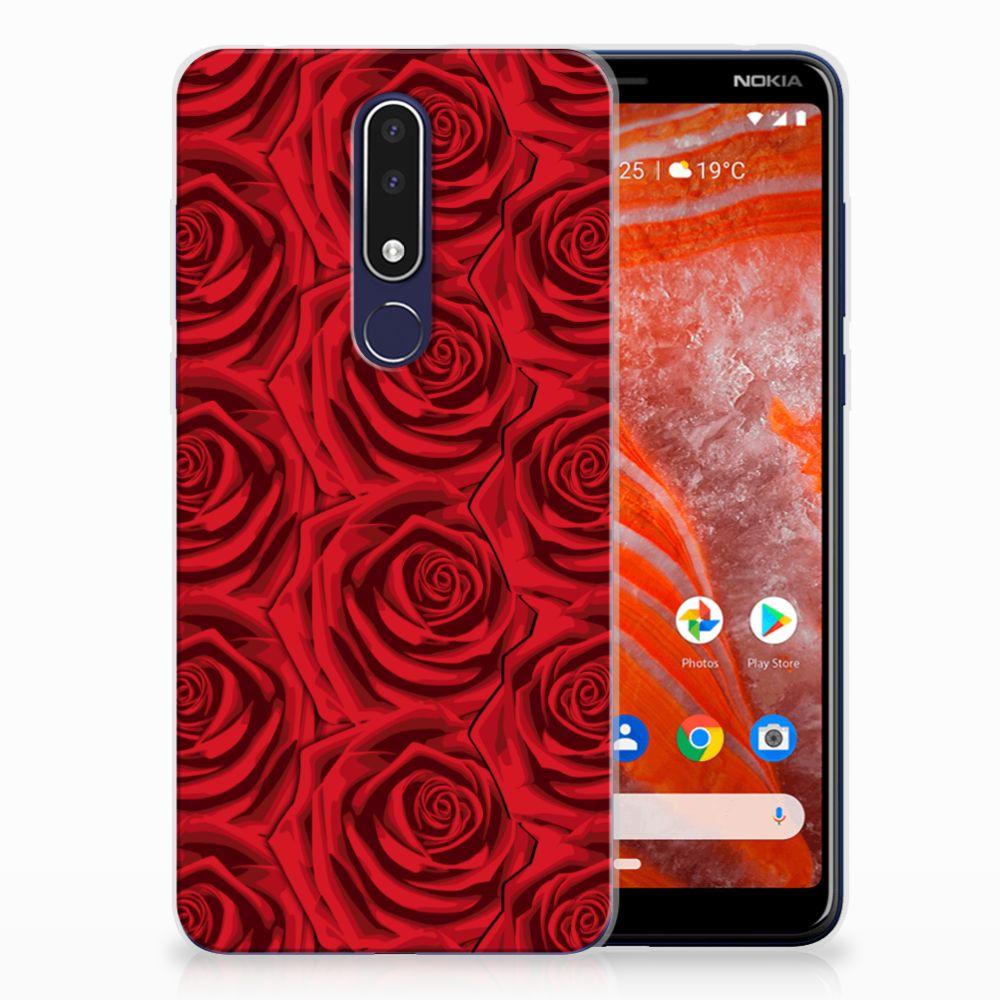 Nokia 3.1 Plus TPU Case Red Roses