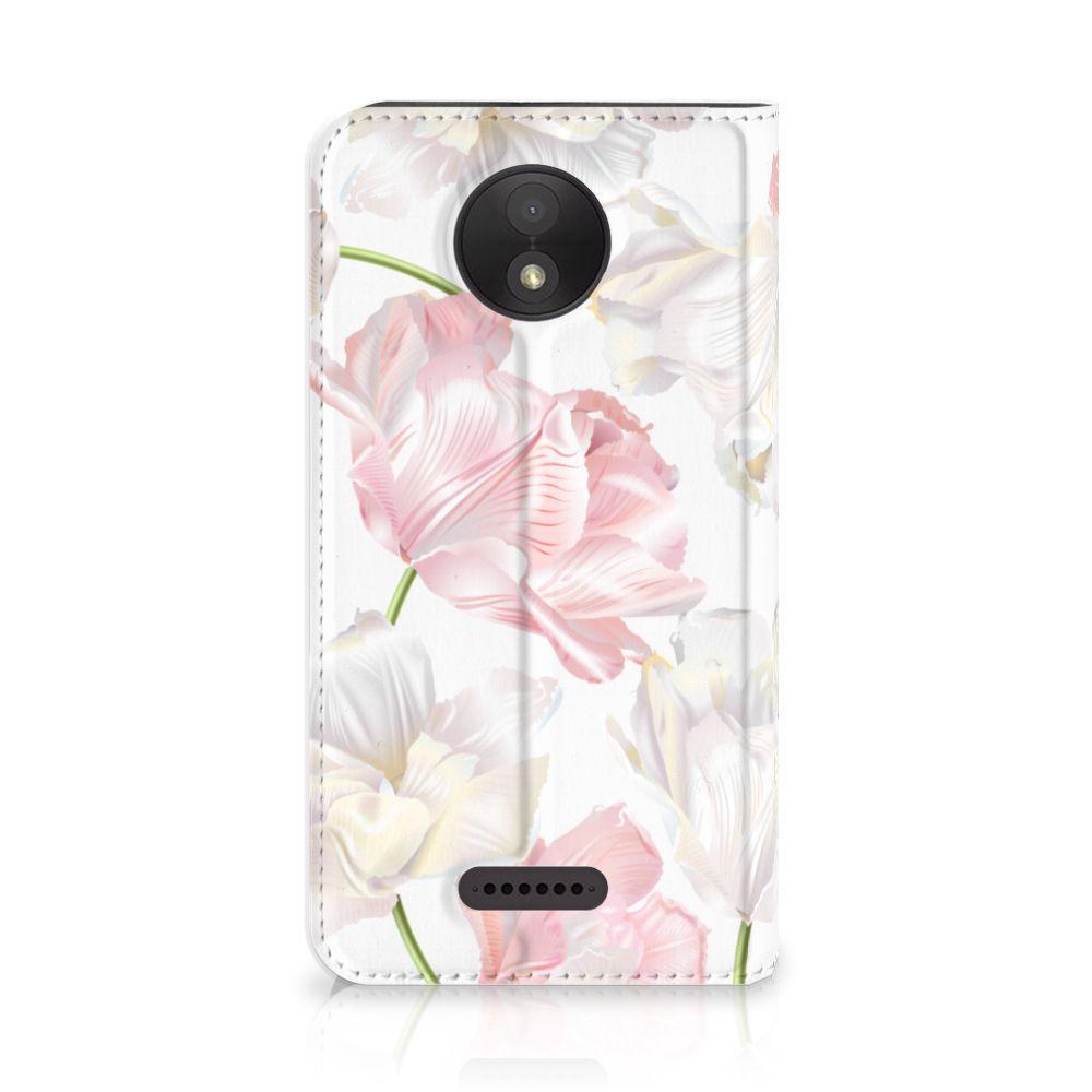 Motorola Moto C Plus Standcase Hoesje Design Lovely Flowers