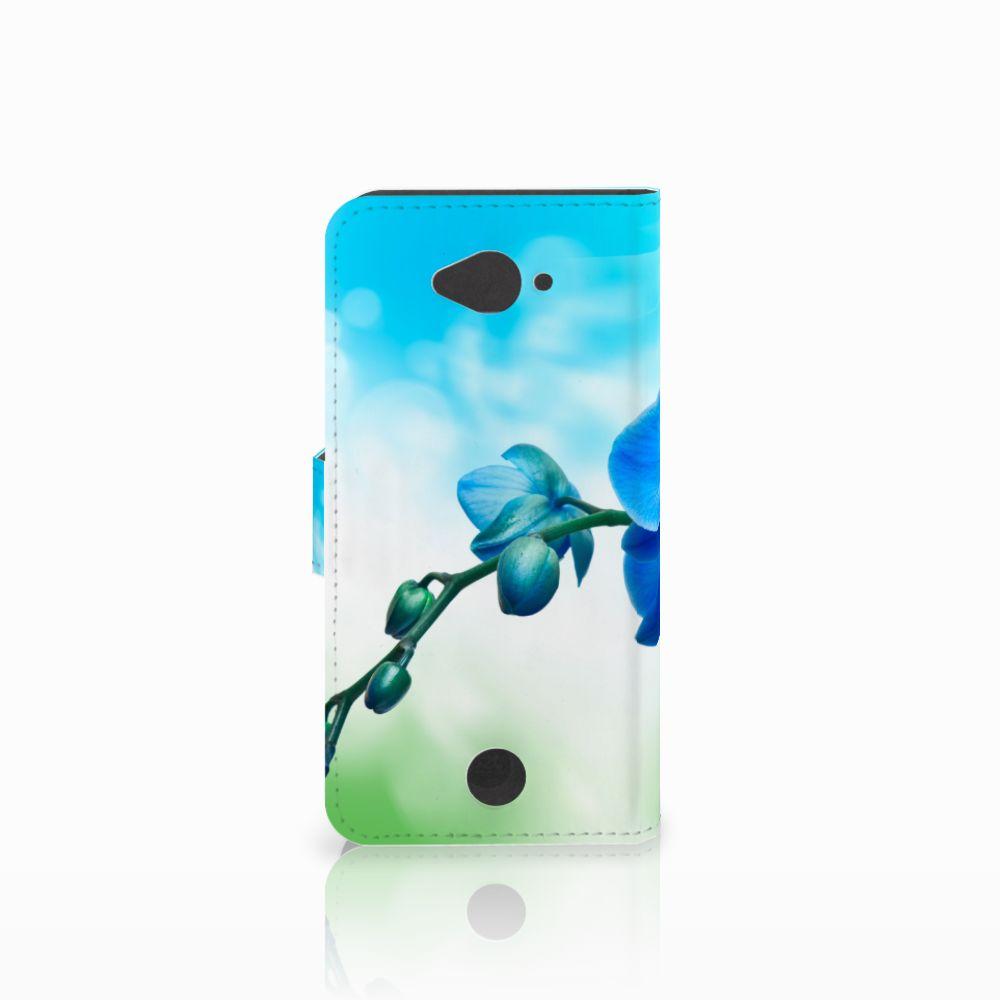 Acer Liquid Z530 | Z530s Hoesje Orchidee Blauw