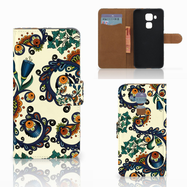 Wallet Case Huawei Nova Plus Barok Flower