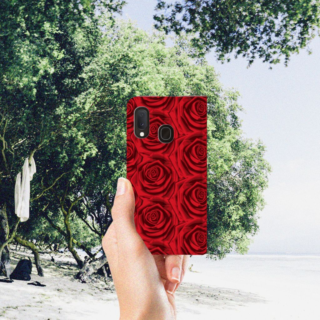 Samsung Galaxy A20e Smart Cover Red Roses