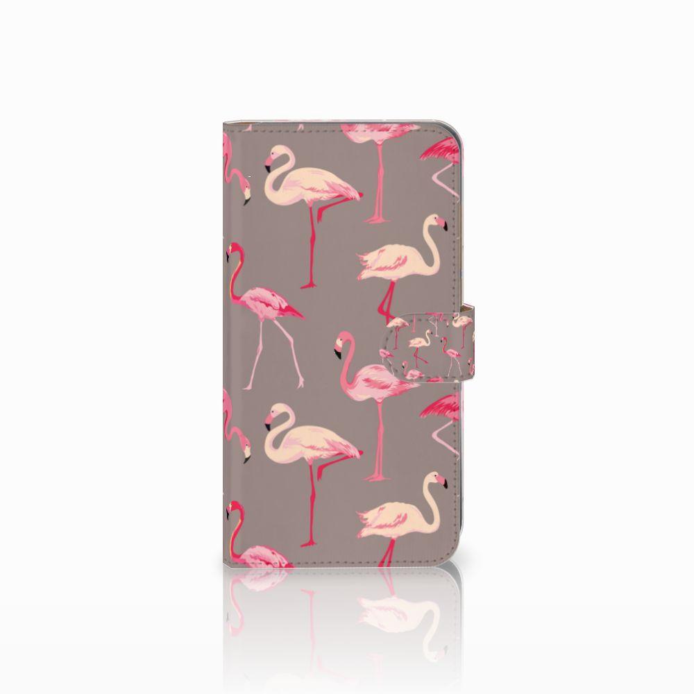 Huawei Mate 9 Uniek Boekhoesje Flamingo