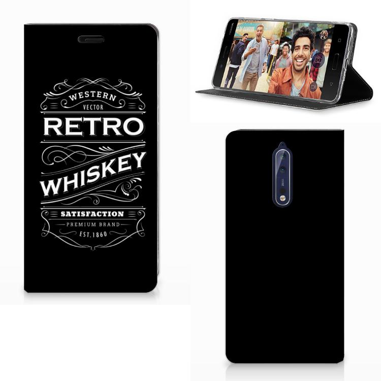 Nokia 8 Flip Style Cover Whiskey