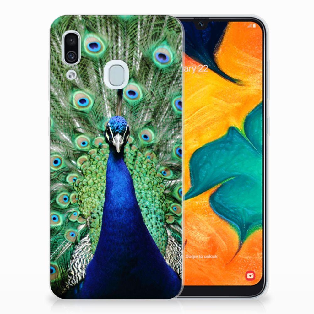 Samsung Galaxy A30 Leuk Hoesje Pauw