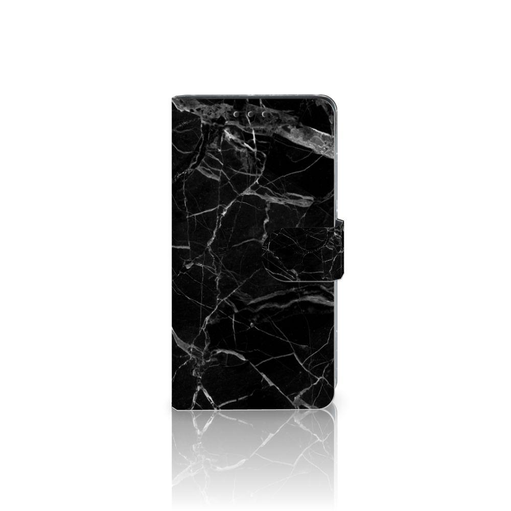 Sony Xperia Z3 Uniek Boekhoesje Marmer Zwart