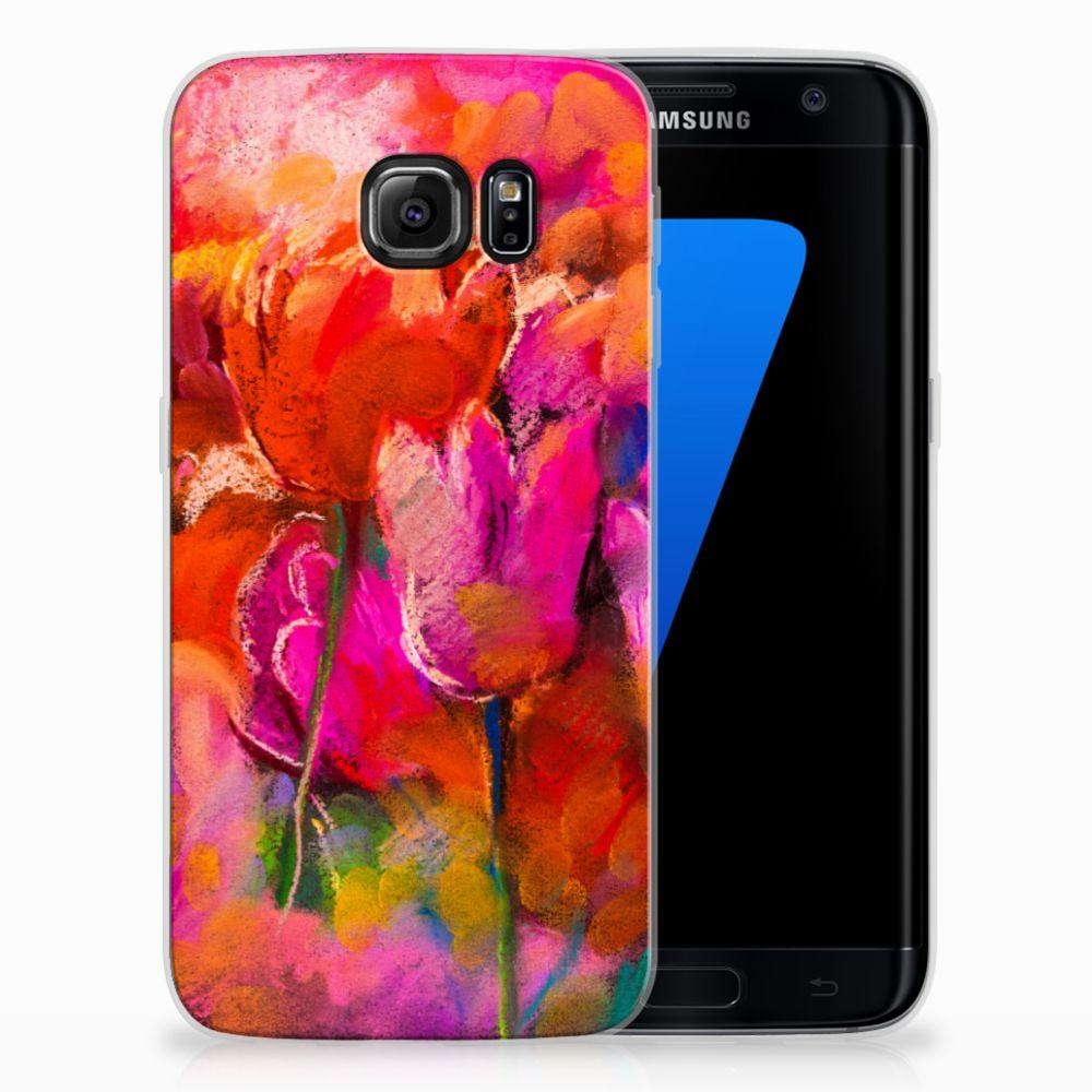 Samsung Galaxy S7 Edge TPU Hoesje Design Tulips