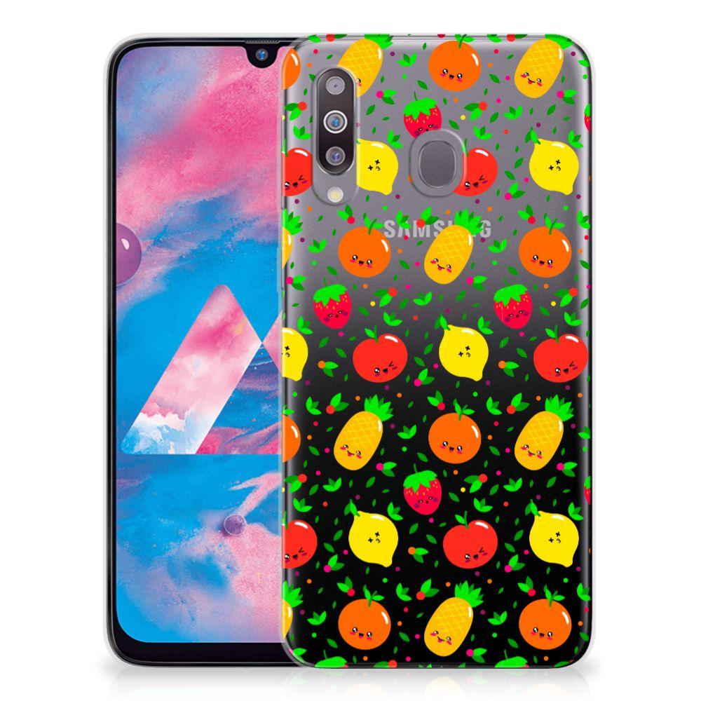 Samsung Galaxy M30 Siliconen Case Fruits