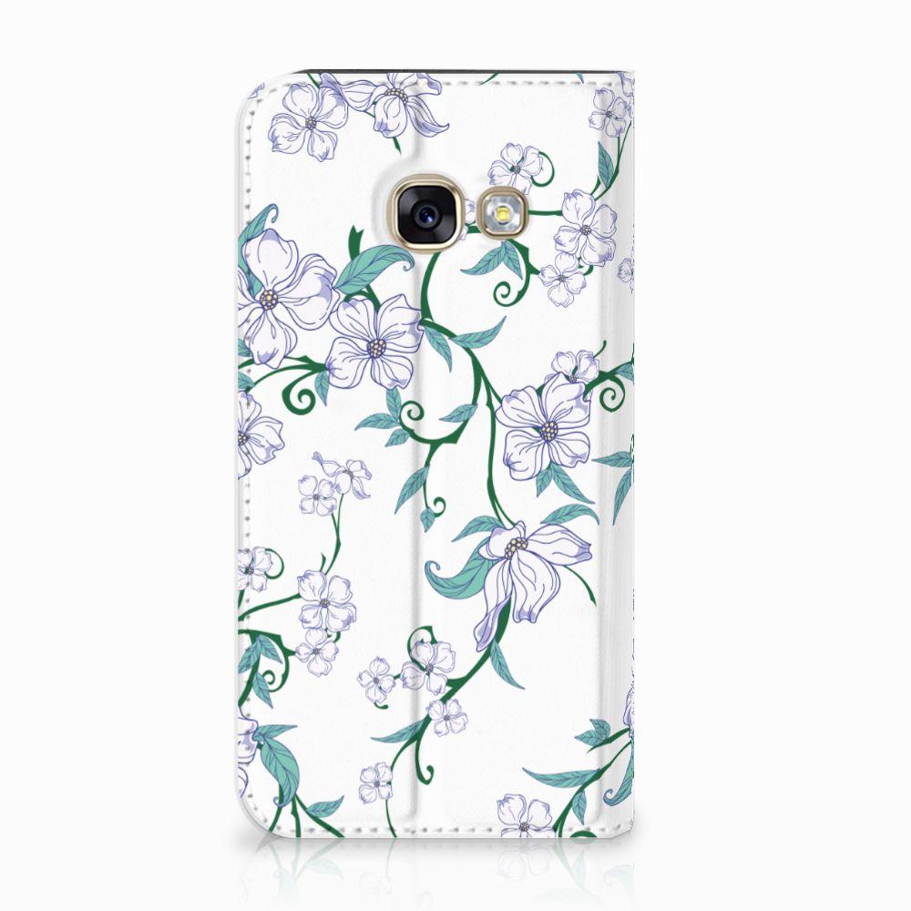 Samsung Galaxy A3 2017 Uniek Standcase Hoesje Blossom White