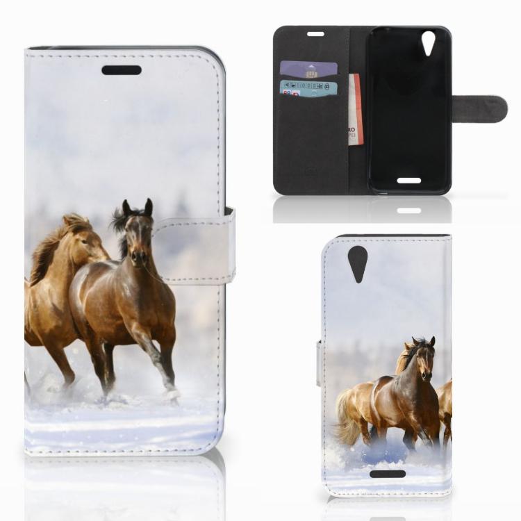 Acer Liquid Z630 | Z630s Telefoonhoesje met Pasjes Paarden