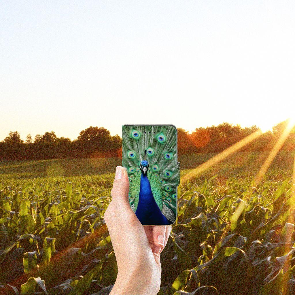 Samsung Galaxy Trend 2 Telefoonhoesje met Pasjes Pauw