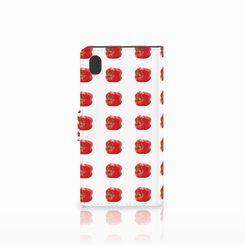 Sony Xperia M4 Aqua Book Cover Paprika Red