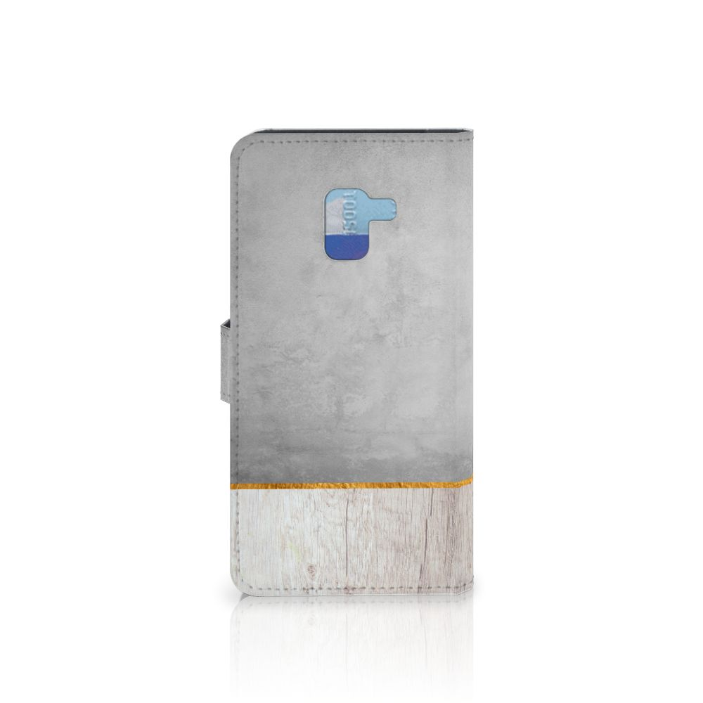 Samsung Galaxy A8 Plus (2018) Book Style Case Wood Concrete