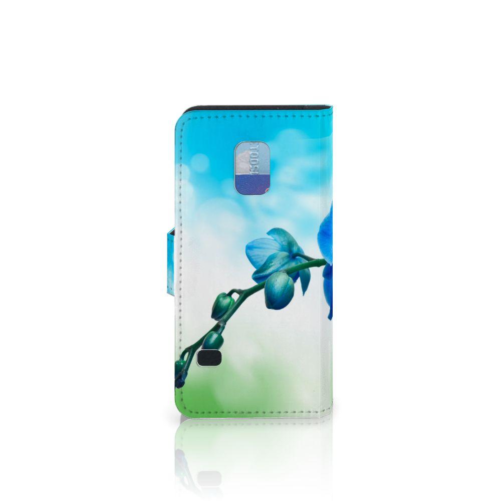 Samsung Galaxy S5 Mini Hoesje Orchidee Blauw