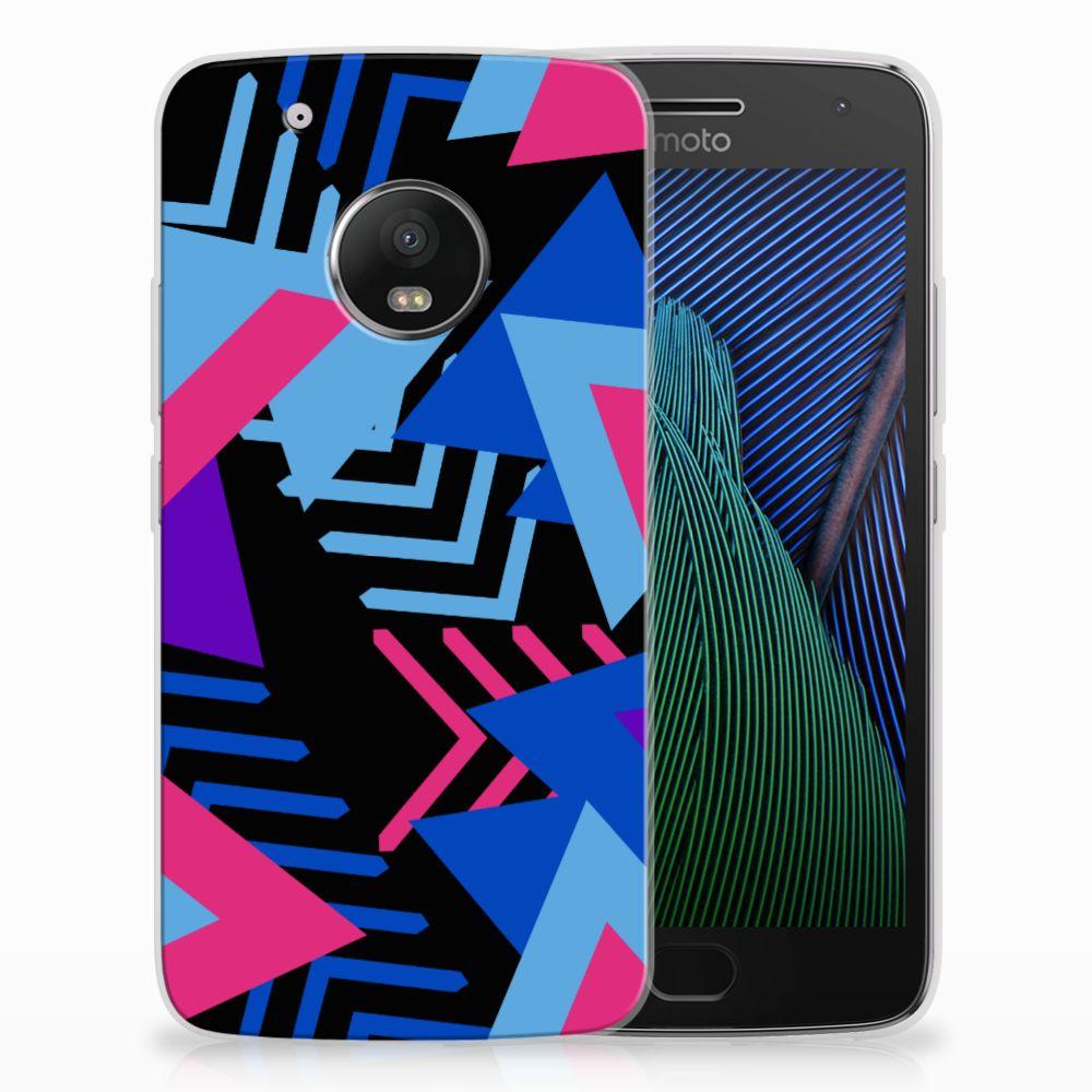 Motorola Moto G5 Plus TPU Hoesje Funky Triangle