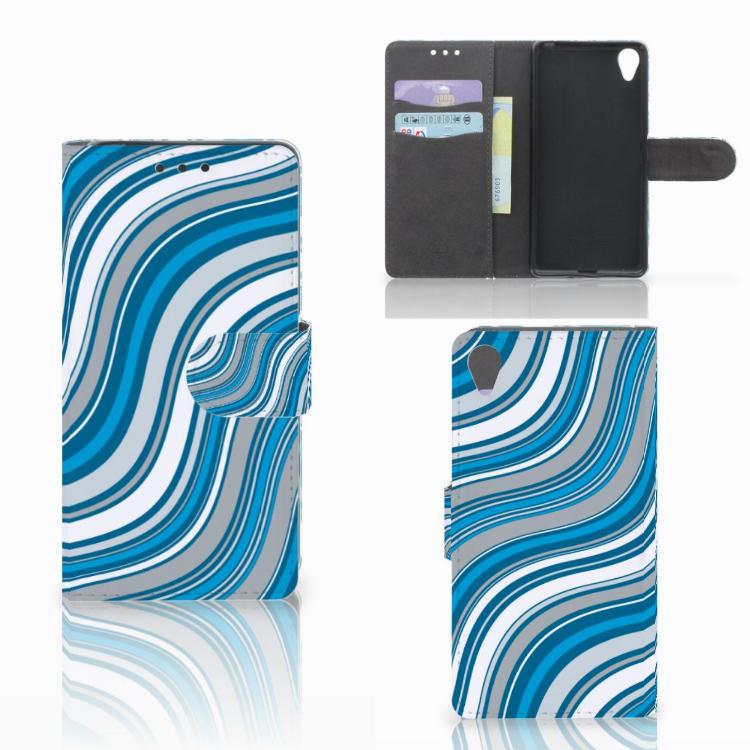 Sony Xperia X Telefoon Hoesje Waves Blue