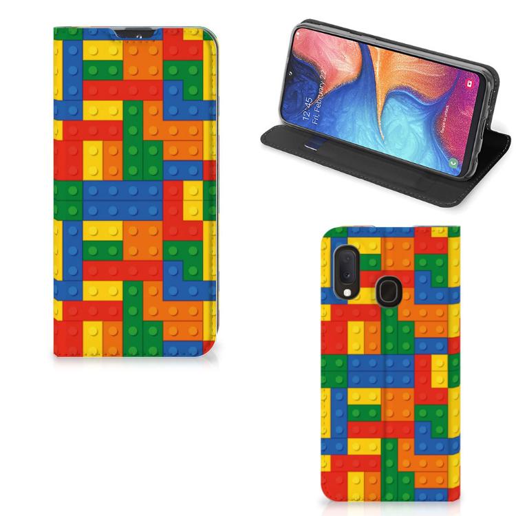 Samsung Galaxy A20e Hoesje met Magneet Blokken