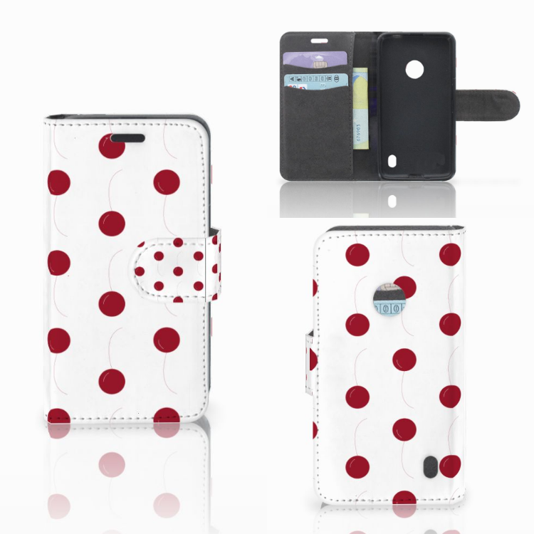 Nokia Lumia 520 Book Cover Cherries