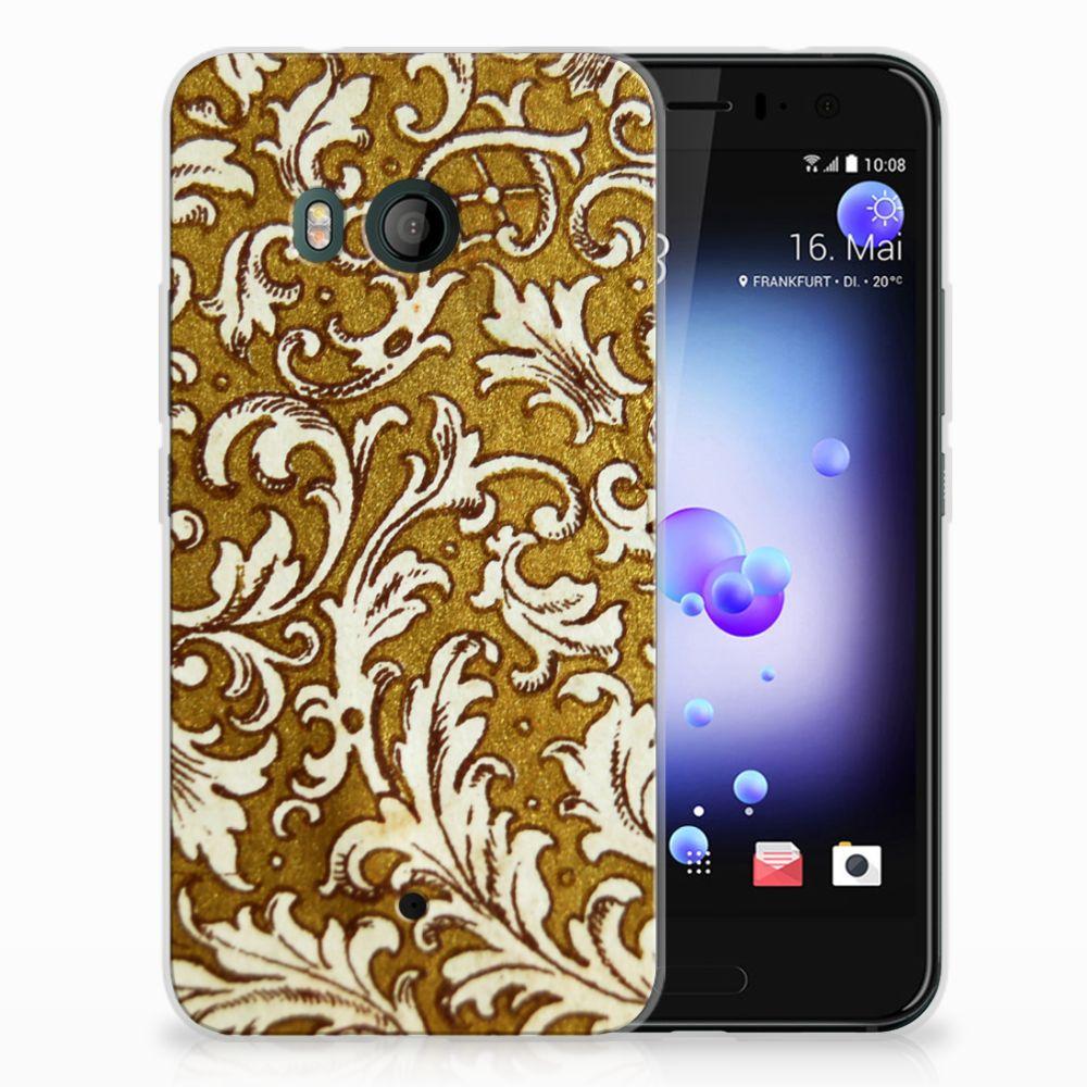 Siliconen Hoesje HTC U11 Barok Goud