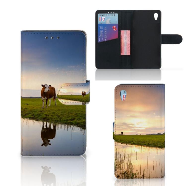 Sony Xperia Z3 Telefoonhoesje met Pasjes Koe