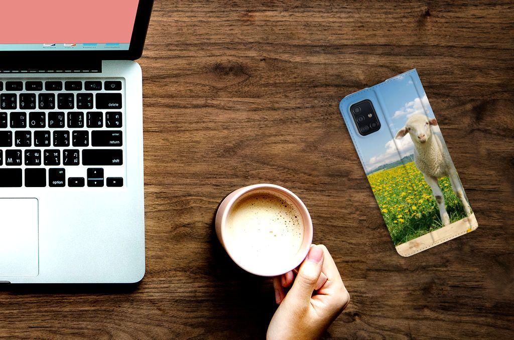 Samsung Galaxy A51 Hoesje maken Schaap en Lammetje