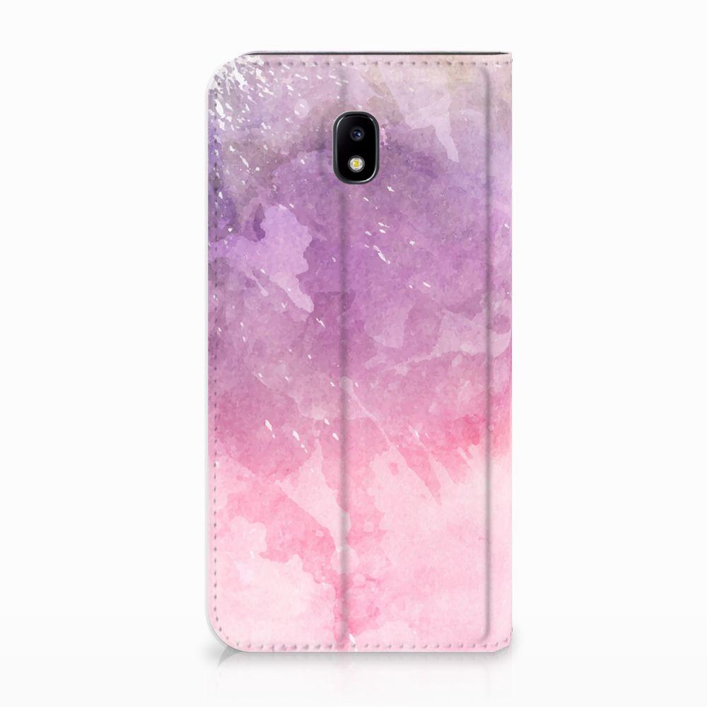 Samsung Galaxy J5 2017 Standcase Hoesje Design Pink Purple Paint